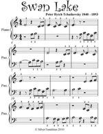Swan Lake Beginner Piano Sheet Music - Peter Ilyich Tchaikovsky