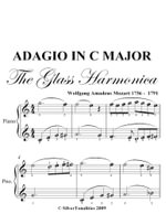 Adagio in C Major Glass Harmonica Easy Piano Sheet Music - Wolfgang Amadeus Mozart