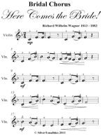Bridal Chorus Here Comes the Bride! Easy Violin Sheet Music - Richard Wilhelm Wagner