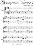 Gymnopedie Number 1 Beginner Piano Sheet Music - Erik Satie
