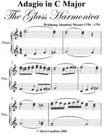 Adagio in C Major the Glass Harmonic Elementary Piano Sheet Music - Wolfgang Amadeus Mozart