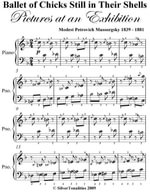 Ballet of Chicks Still in Their Shells Pictures at an Exhibition Easy Piano Sheet Music - Modest Petrovich Mussorgsky
