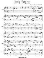 Cat's Fugue Easy Piano Sheet Music - Domenico Scarlatti