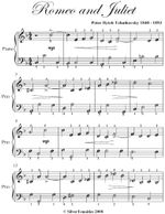 Romeo and Juliet Easy Piano Sheet Music - Peter Ilyich Tchaikovsky