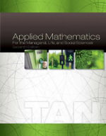 Applied Mathematics for the Managerial, Life, and Social Sciences - Soo Tan