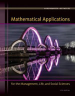 Mathematical Applications for the Management, Life, and Social Sciences : Pre-Birth Through Adolescence - Ronald J. Harshbarger