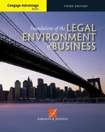 Cengage Advantage Books : Foundations of the Legal Environment of Business - Marianne Jennings