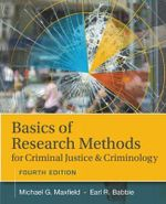 Basics of Research Methods for Criminal Justice and Criminology - Michael G. Maxfield