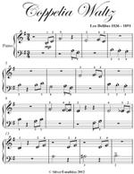 Coppelia Waltz Beginner Piano Sheet Music - Leo Delibes