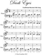 Dark Eyes Beginner Piano Sheet Music - Traditional Russian Folk Song