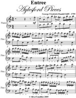 Entry Aylesford Pieces Easy Piano Sheet Music - George Friedrich Handel