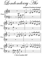 Londonderry Air Beginner Piano Sheet Music - Traditional Irish