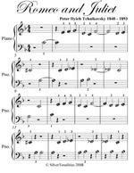 Romeo and Juliet Beginner Piano Sheet Music - Peter Ilyich Tchaikovsky