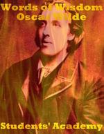 Words of Wisdom : Oscar Wilde - Students' Academy