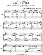 The Witch Album for the Young Beginner Piano Sheet Music - Peter Ilyich Tchaikovsky