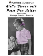 Girl's Blouse With Peter Pan Collar - Wendy Hall