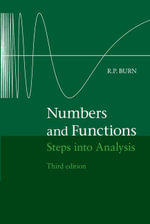 Numbers and Functions - R. P. Burn