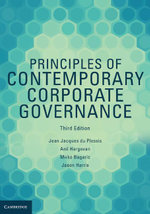 Principles of Contemporary Corporate Governance - Jean Jacques Du Plessis