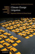 Climate Change Litigation - Jacqueline Peel