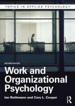 Work and Organizational Psychology - Ian Rothmann