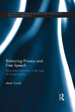 Balancing Privacy and Free Speech : Unwanted Attention in the Age of Social Media - Mark Tunick