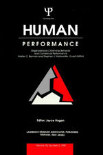 Organizational Citizenship Behavior and Contextual Performance : A Special Issue of Human Performance