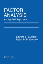 Factor Analysis : An Applied Approach - Edward E. Cureton