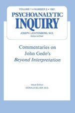 Commentaries : Psychoanalytic Inquiry, 1.2