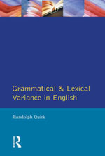 Grammatical and Lexical Variance in English - Randolph Quirk
