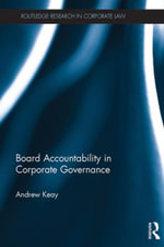 Board Accountability in Corporate Governance - Andrew Keay
