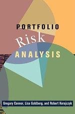 Portfolio Risk Analysis - Gregory Connor