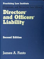 Directors' and Officers' Liability - James A. Fanto