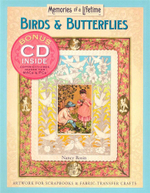 Birds and Butterflies : Artwork for Scrapbooks and Fabric-transfer Crafts - Nancy Rosin