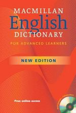 Macmillan English Dictionary for Advanced Learners : British English Edition Paperback