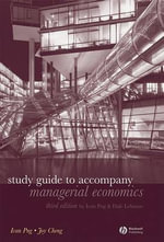 Study Guide to Accompany Managerial Economics - Ivan Png