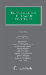 Borrie and Lowe : The Law of Contempt - Lord Justice Sedley