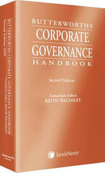 Corporate Governance Handbook : Perspectives and Practice - Keith Walmsley