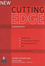 New Cutting Edge Elementary Teachers Book and Test Master CD-ROM Pack : Cutting Edge - Frances Eales