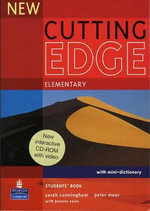 New Cutting Edge Elementary Students Book and CD-ROM Pack : Cutting Edge - Sarah Cunningham