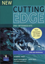 New Cutting Edge Pre-Intermediate Students Book and CD-ROM Pack : Cutting Edge - Sarah Cunningham