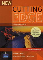 New Cutting Edge Intermediate Students Book and CD-ROM Pack : Cutting Edge - Sarah Cunningham