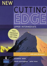 New Cutting Edge Upper Intermediate Students Book and CD-ROM Pack - Sarah Cunningham