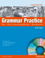 Grammar Practice for Pre-Intermediate Student Book with Key Pack : Grammar Practice - Rob Metcalf