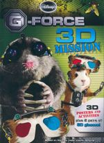 G Force 3D Mission : 3D Posters and activities plus 2 pair of 3D glasses