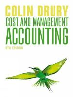 Cost and Management Accounting - Colin Drury
