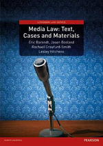 Media Law : Text, Cases and Materials - Eric Barendt