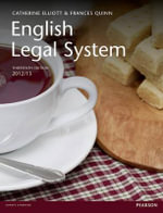 English Legal System - Catherine Elliott