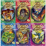 Beast Quest : The World of Chaos Series 6 Set (Shrinkwrapped) : Komodo The Lizard King, Muro The Rat Monster, Fang The Bat Fiend, Murk The Swamp Man, Terra Curse Of The Forest, Vespick The Wasp Queen  - Adam Blade