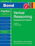 New Bond Assessment Papers Verbal Reasoning 8-9 Years - J M Bond