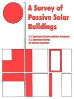 A Survey of Passive Solar Buildings : Illustrated - Dept. of Housing and Urban Development